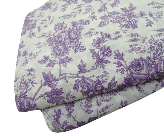 Purple Indian Pure Cotton Fabric Sewing Apparel Floral Printed