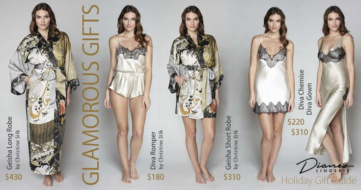 Glamorous Gifts from Dianes Lingerie!