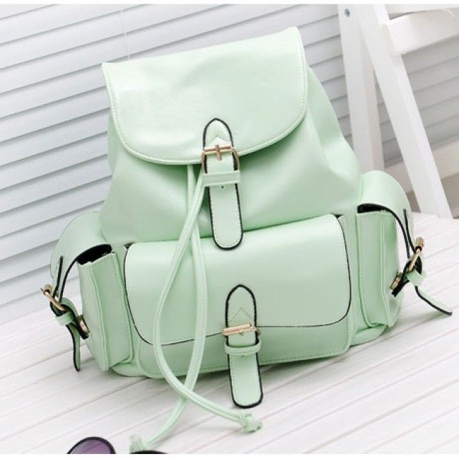 Cheap Casual College Style Mint Green Backpack For Big Sale!Casual College Style Mint Green Backpack is suitable for leisure occassion such as shopping, small gathering