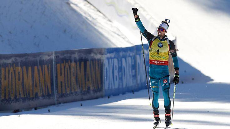 Biathlon-Weltcup in Pokljuka: Fourcade siegt, Rösch rührt die Herzen