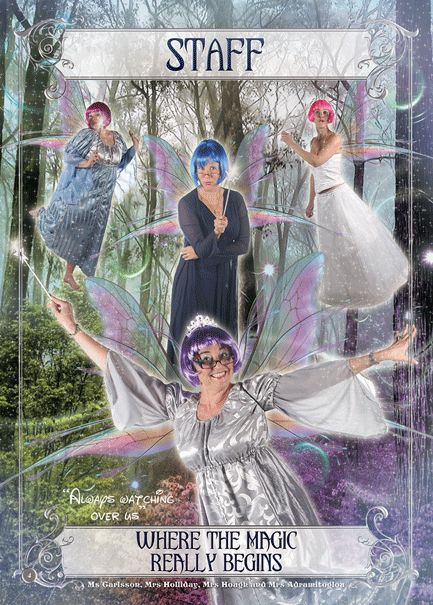 Fairy Tale Yearbook Theme: Staff Leader Page