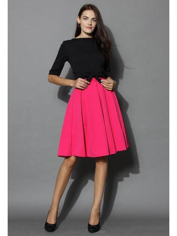 Sukně Chicwish Hot Pink Midi S | BlankaStraka.cz