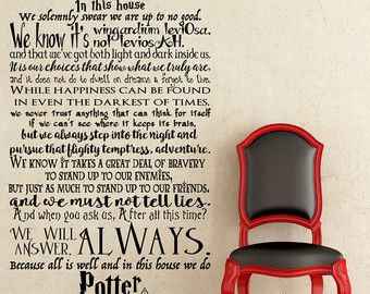 Harry Potter Quote Wall Decal Believing In by AwesomezzDesigns