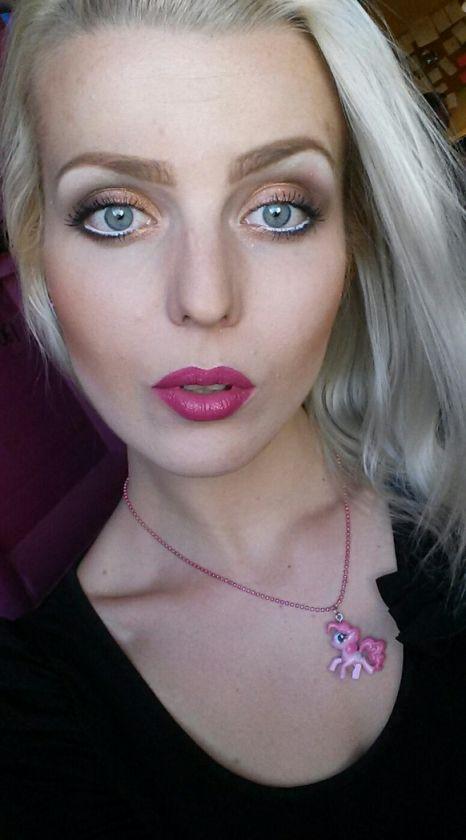 Stylish Blonde: GLAMOUR MAKE-UP! Brązy, złoto i wyraziste usta!