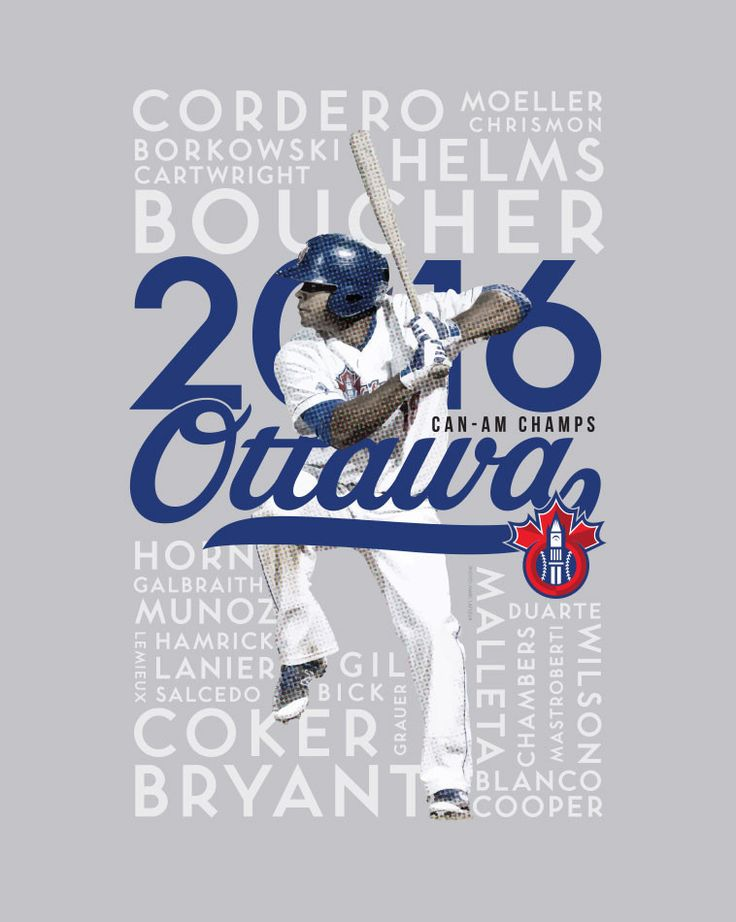 Official limited edition (/250) commemorative print made by Doug Jackson of Man Made Art of the Ottawa Champions Baseball Club Championship season in 2016. All proceeds goto Ottawa Food Bank