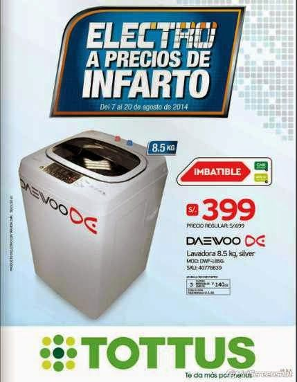 Catalogo Tottus Electro Precios de Infarto agosto 2014