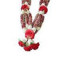 A varmala or jaimala is an Indian wedding garland symbolic of the popular marriage ceremony