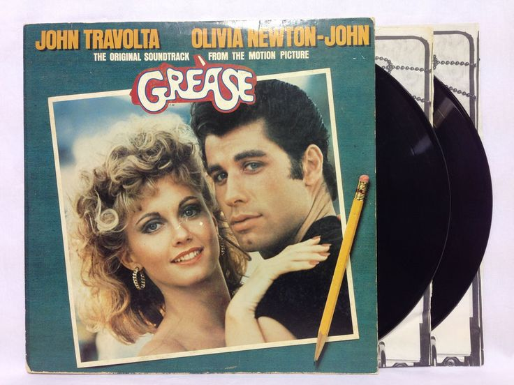 Grease Soundtrack RSO RS 2-4002  w/ Lyric Sleeves Vinyl Record 2x LP
