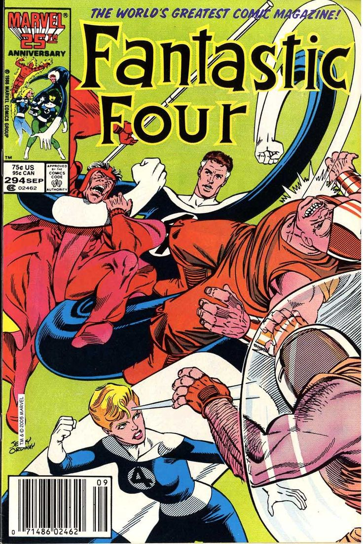 Fantastic Four Issue 294 1986 Comic Book By Jerry Ordway Marvel Comics