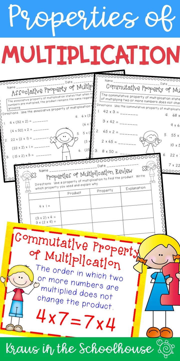 hight resolution of Properties of Multiplication   TpT Digital Activity Distance Learning    Properties of multiplication