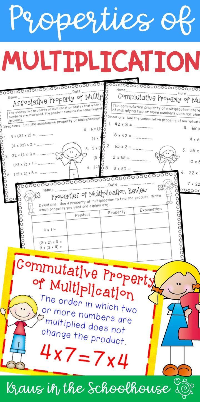 Properties Of Multiplication Tpt Digital Activity Distance Learning Properties Of Multiplication Commutative Associative Property