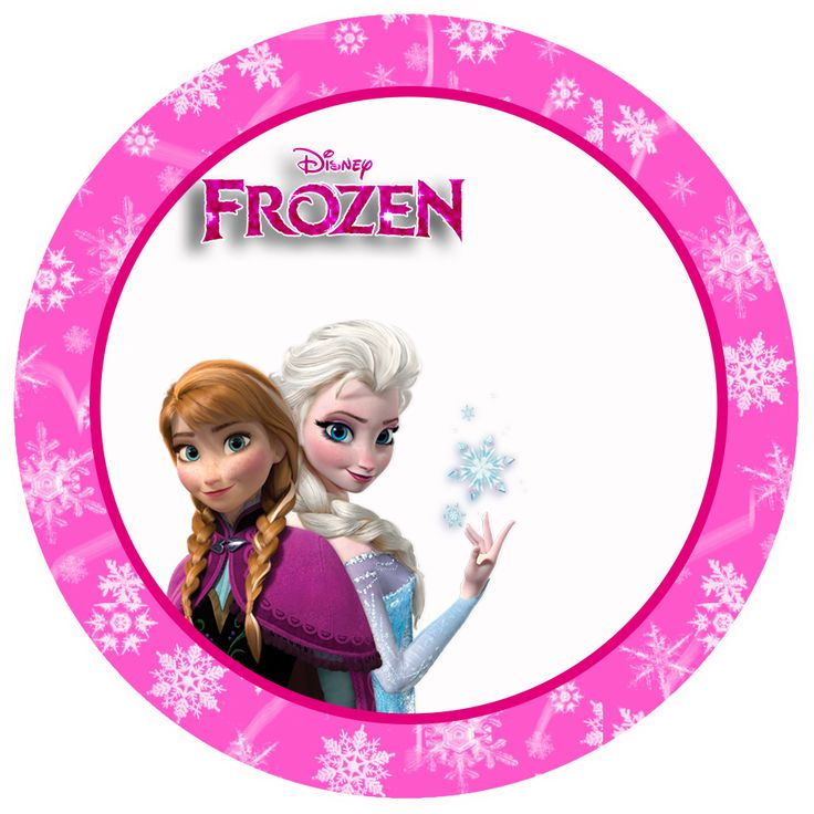 Frozen in Pink:Free Printable Toppers, Stickers, Bottle Caps or Labels.Gratis..