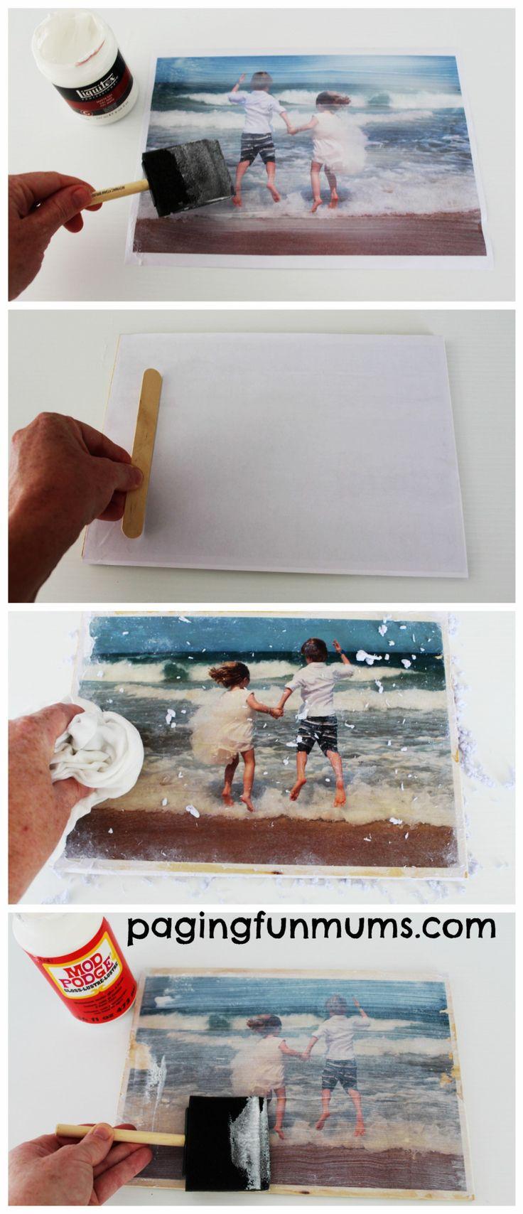 How to transfer photos onto wood