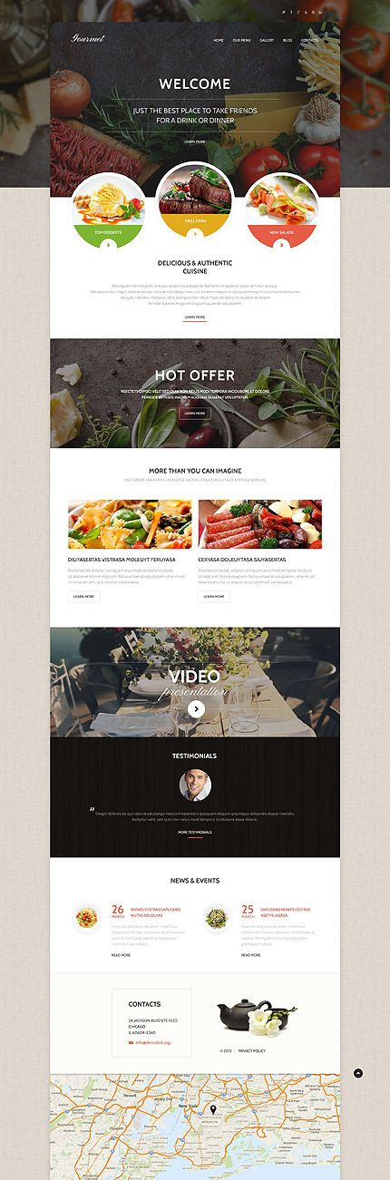28 best Food & Restaurant Template Press images on Pinterest ...