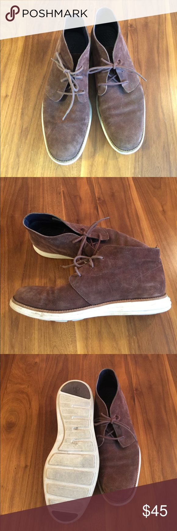 Cole Haan Lunargrand Suede Chukka Boots Brown suede Chukka Boots. Light wear with minor smudges and rub marks. Cole Haan Shoes Chukka Boots