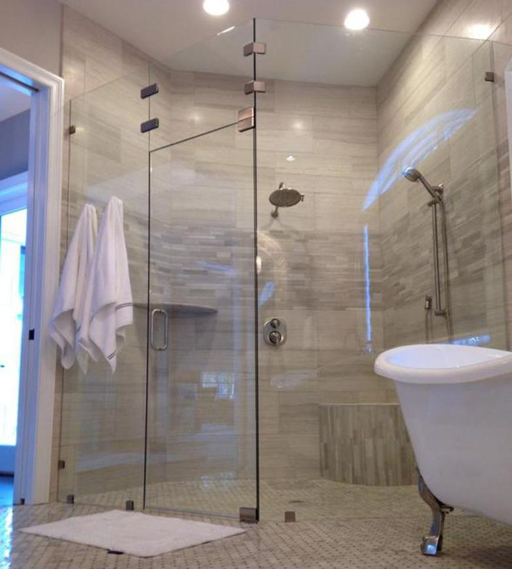 Custom 3 8 Inch Neo Angle Shower Door In Cardinal Shower