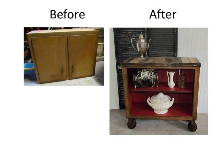 reusing an old kitchen cabinet as a shelf complete with reusing the old kitchen cabinets in the garage flickr