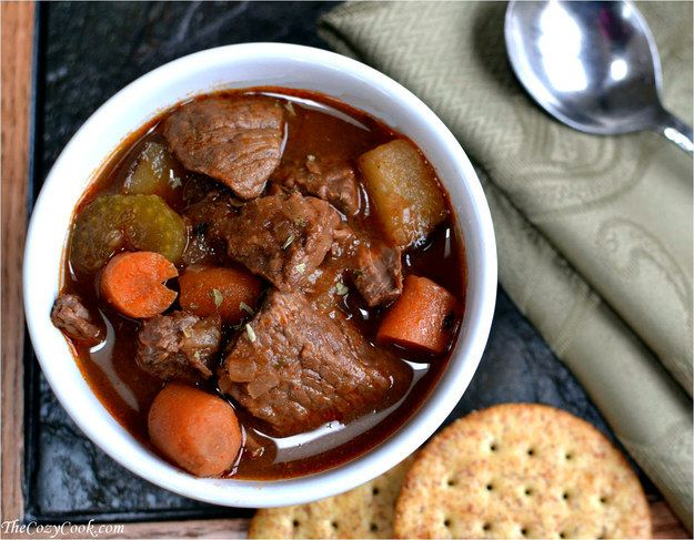 Beef Stew | 14 Insanely Delicious Slow Cooker Soups to Warm You Up This Winter