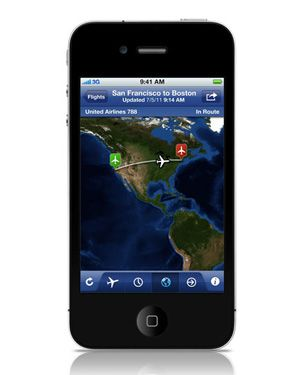 best flight tracker app iphone 2012