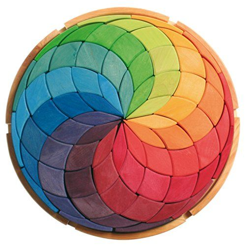 Grimm's Large Color Circle Spiral Wooden Mandala Creative Puzzle, 15-inch Diameter (4x4 Size) Grimm's Spiel and Holz Design http://www.amazon.com/dp/B004OXWSYA/ref=cm_sw_r_pi_dp_5Faowb0KGMD7F