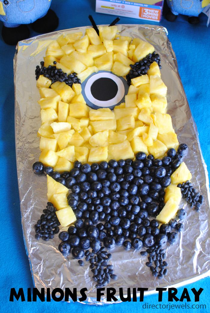 Minions Fruit Tray | Minions Despicable Me Party Ideas at directorjewels.com