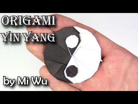 Como fazer origami yin yang - YouTube