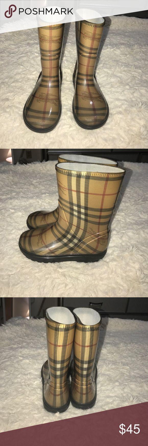 Authentic kids Burberry rain boots size 13 Authentic Burberry kids rain boots size 13 Burberry Shoes Winter & Rain Boots