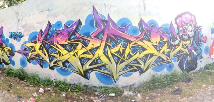The padlepup graffiti mixing colours