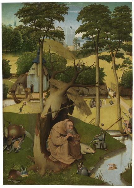 Las tentaciones de San Antonio Abad. Exposición El Bosco. Museo del Prado.