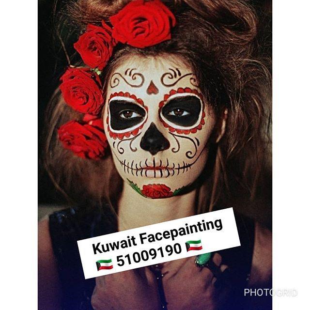 الوجه مصمم هالوين Facepainting في شهر نوفمبر عرض خاص الرسم على الوجه مصمم عرض خاص الرسم على الوجه مصمم هالوين Fac Glow Paint Glow In The Dark Face Painting