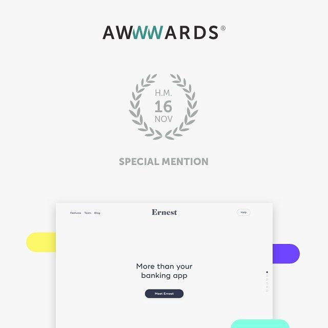 Hurray! Sharing great news today: our design for Ernest has just been awarded an @awwwards Special Mention   Link: https://ernest.ai/ #design #apple #workspace #html5 #geek #developer #workplace #javascript #awwwards #webdesign esign #ux #award #ui #dribbble #instaui #inspiration #typography #graphicdesign #interactiondesign #userinterface #userexperience #branding #interfacedesign #graphicdesignui #logo #wireframe #web #uiinspiration #interface #instaart