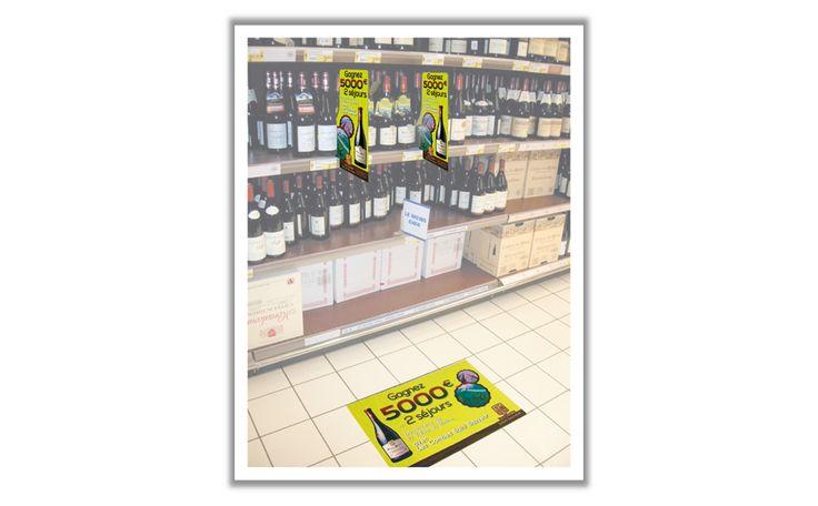 Jamet Communication PLV : adhesif-de-sol, stop rayon séparateur