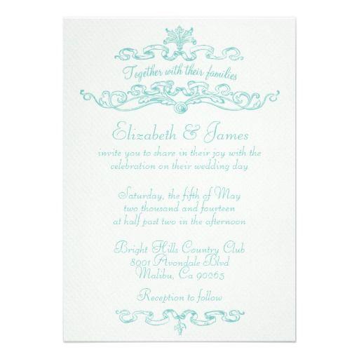 Best Online Wedding Invitations: 8 Best Aqua Wedding Invitations Images On Pinterest