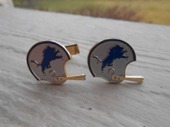 Vintage Detroit Lions Cufflinks. Wedding Men's by TreeTownPaper