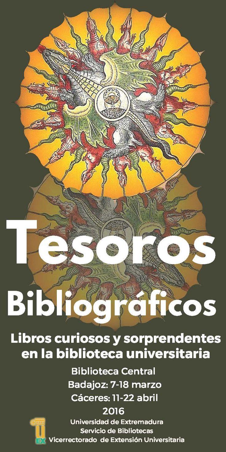 """Exposición """" Tesoros bibliográficos: libros curiosos y sorprendentes en la biblioteca universitaria""""  #libros #exposiciones #biblioteca #uex"""