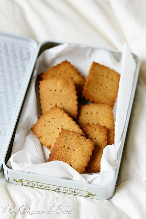 Biscuits sablés à la châtaigne et miel