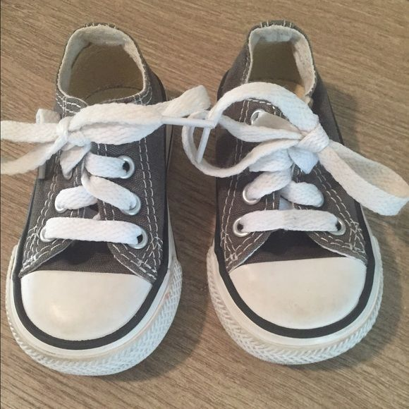 Kids converse! Grey kids converse gently used! Super cute! Converse Shoes Sneakers