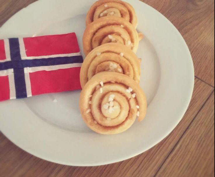 Rezept Kanelsnurrer, Zimtschnecken norwegisch von KristineMtfl - Rezept der Kategorie Backen süß