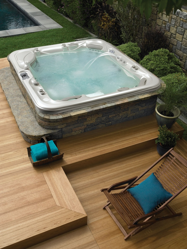 18 Hot Tubs We Wish We Owned Hot tubs, Tubs and Backyard - jacuzzi exterior