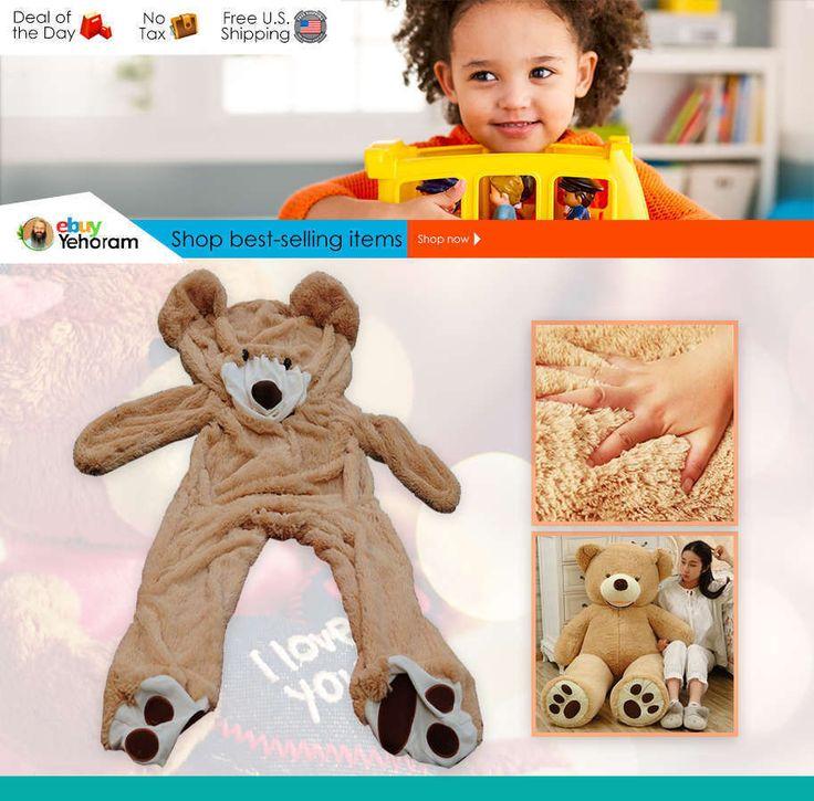 #TeddyBears #Teddy #Bears Unstuffed 78 Inches / 6.5Ft Huge Teddy Bear Semi-finished - Cover Only/No Cotton #TeddyBears #Teddy #Bears