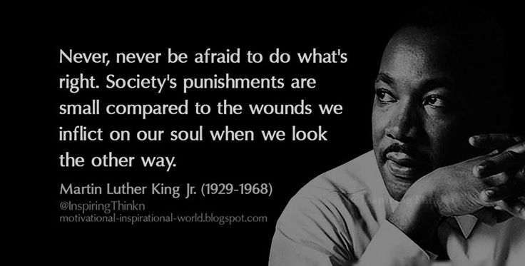 "Roy Bennett on Twitter: ""Never, never be afraid to do what's right...  Martin Luther King Jr. #inspiration https://t.co/yyCnKYSQxd"""