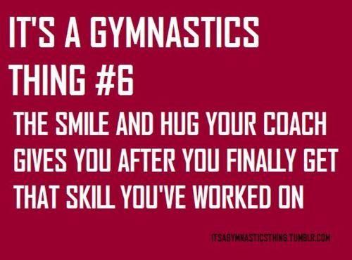 It's a gymnastics thing