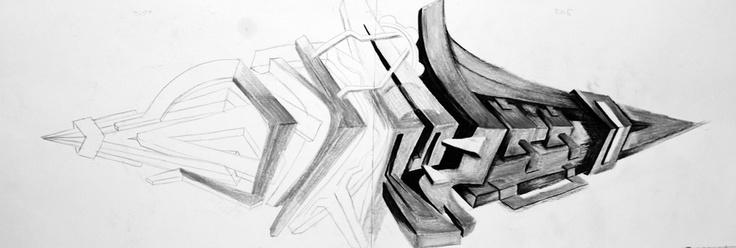 grafitti em canson com lapis 6b & 8b