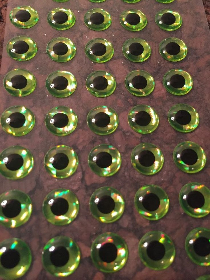 3D Chartreuse Lure Eyes 3mm -8mm FREE SHIPPING Lure Making, Jig Making Supplies