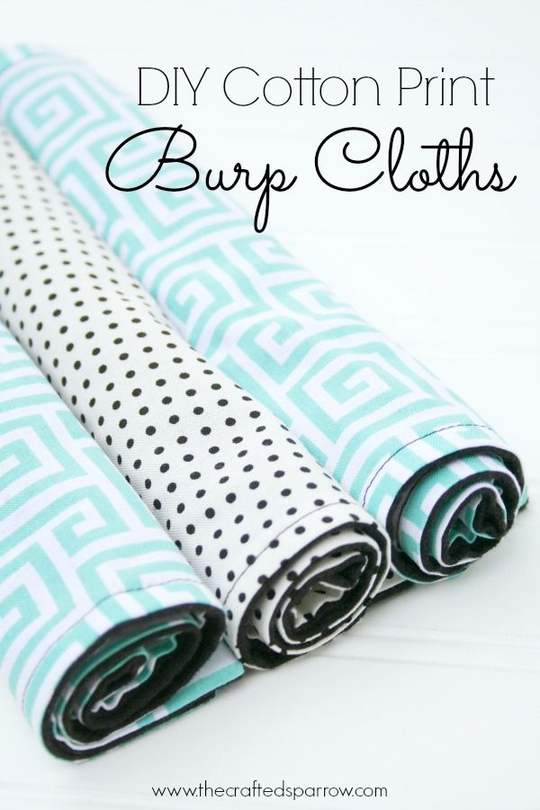 DIY Cotton Print Burp Cloths, flannel backing makes them super absorbent and they fit so well in to any diaper bag!  thecraftedsparrow.com: Sewing Projects, Diapers Bags, Baby Gifts, Crafts Sparrow, Prints Burp, Cotton Prints, Diy'S Cotton, Burp Clothing, Baby Showers