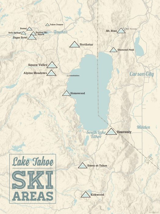 Best Tahoe Ski Resorts Ideas Only On Pinterest Ski Resorts - Us ski resorts map