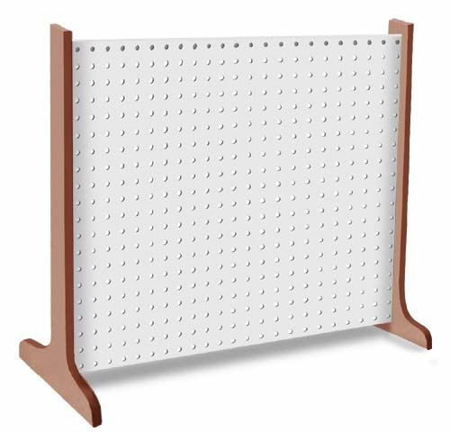 Single Panel Pegboard Display & Portable Craftshop - White