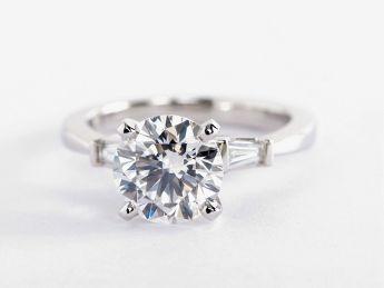 Tapered Baguette Diamond Engagement Ring in Platinum (1/6 ct. tw.)