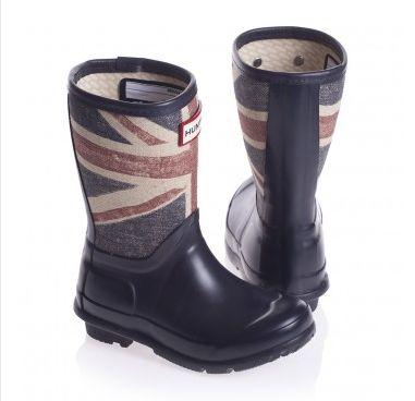 Hunter Original & Kids Thurlestone: Union Jack, Black Glitter & Nautical Inspired Rain Boots