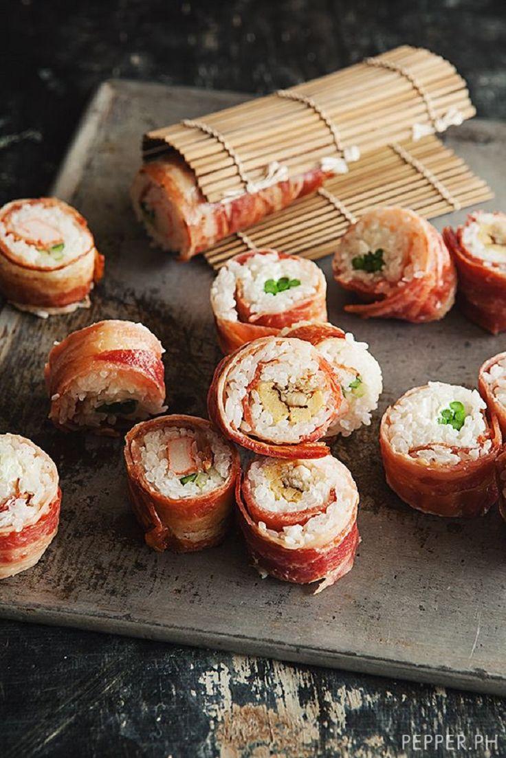 Bacon-Wrapped Sushi
